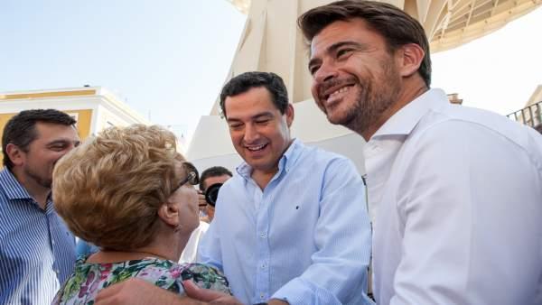 Beltrán Pérez y Juanma Moreno, este miércoles