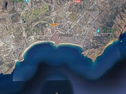 Entorno de las playas de Benidorm