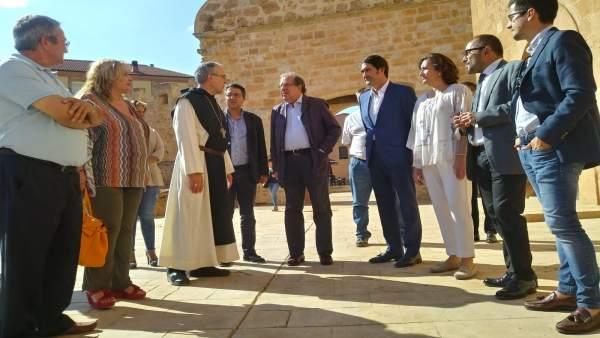 Herrera visita el Monasterio de Santa María de Huerta. 19-9-2018