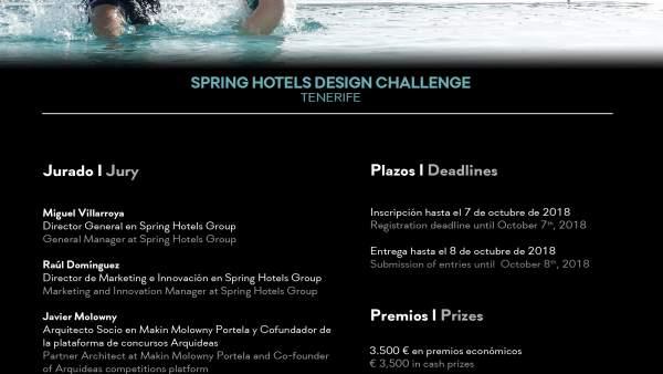 Cartel del concurso de ideas de Spring Hotels