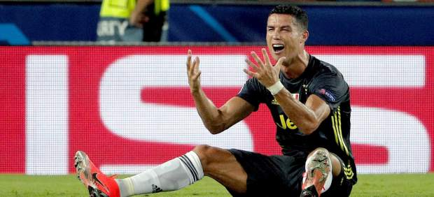 Cristiano Ronaldo, a lágrima viva tras ser expulsado en Mestalla
