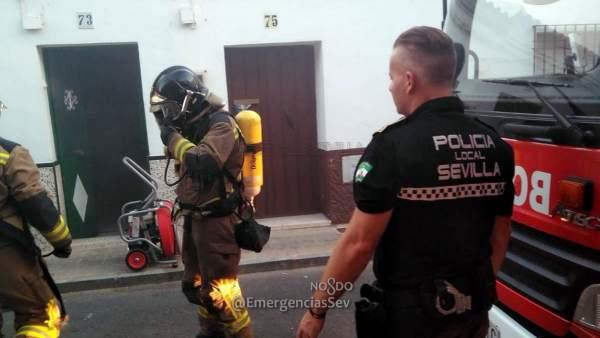 Incendio originado en la cocina de una vivienda en Bellavista