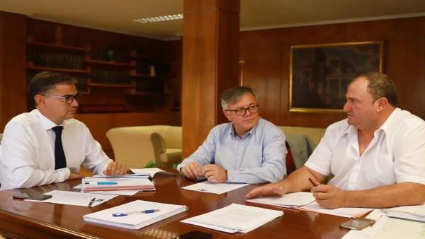 El delegado del Gobierno con el alcalde de Hellín