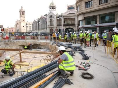 Aparcamiento de la plaza Ciudad de Brujas de València