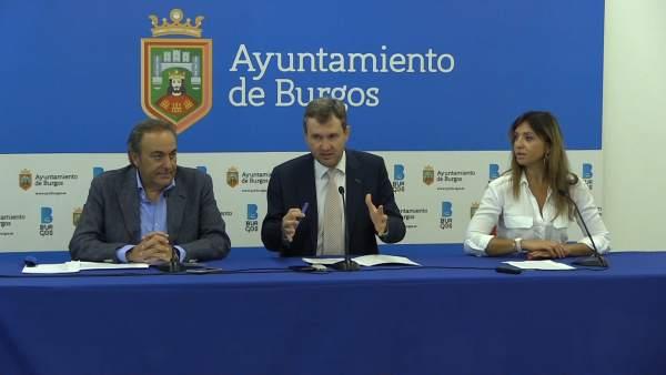 José Barrena, Javier Lacalle y Carolina Blasco.