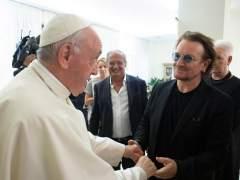 """Bono: """"El papa Francisco es un hombre extraordinario"""""""
