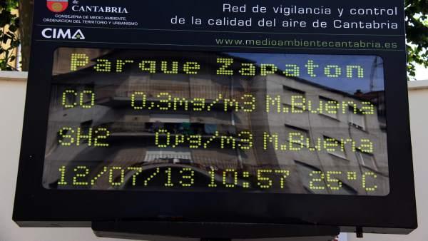 Estación de medición de la calidad del aire de El Zapatón