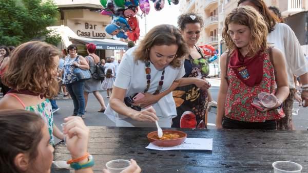 LA ALCALDESA, CUCA GAMARRA, EN DISTINTOS ACTOS DE LAS FIESTAS DE SAN MATEO 2018.