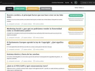 Página de WikiTribune en español.