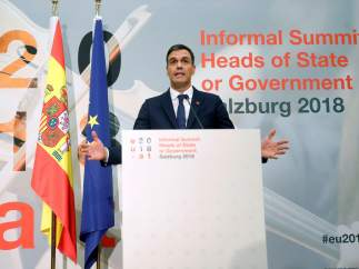 Sánchez, tras la cumbre de Salzburgo.