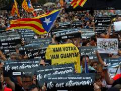 El independentismo se concentra ante la consejería de Economía un año después del 20-S