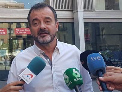 El líder de ERC en Barcelona, Alfred Bosch.
