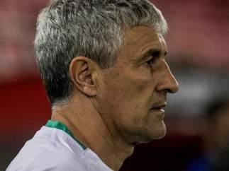 Quique Setién, entrenador del Real Betis.