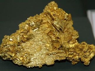 Pepita de oro en una imagen de archivo