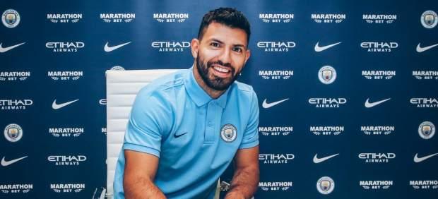 Agüero renueva con el Manchester City hasta 2021