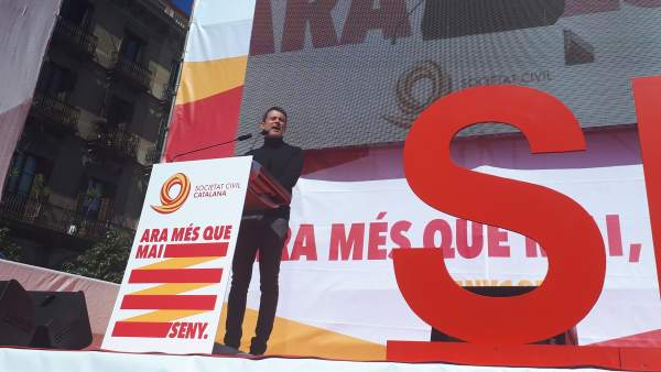 Manuel Valls interviene en la manifestación de SCC.