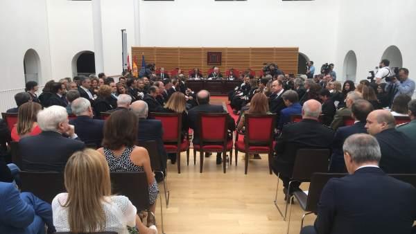 Rodríguez en la inauguración del año judicial