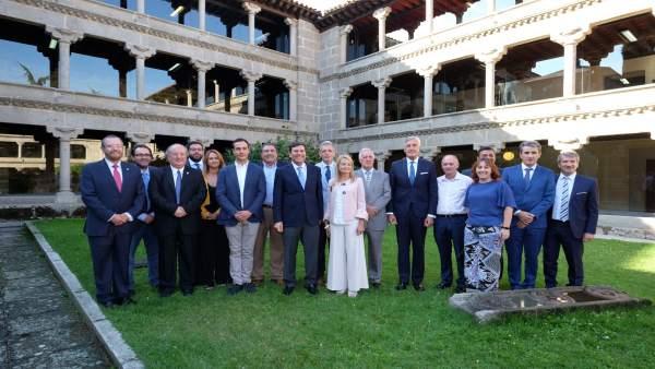 Carriedo asiste a la entrega de los premios en Ávila, 21-9-18