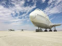 Polémica por un Boeing 747 que lleva semanas aparcado en el desierto de Nevada