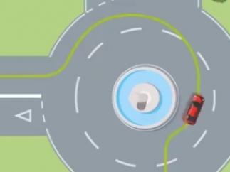 ¿Cómo entrar y salir correctamente de una rotonda?