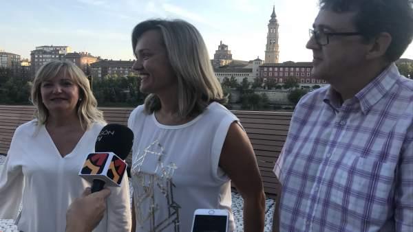 Pilar Alegría ha cerrado la campaña de primarias en el Balcón de San Lázaro.