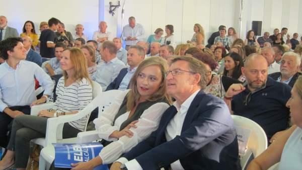 Feijóo presenta a Muñoz como candidata del PP en Vigo