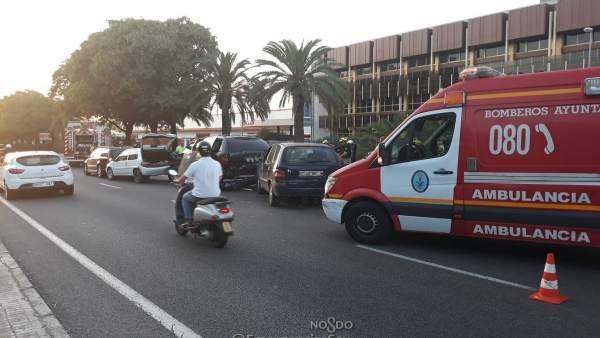 Cuatro heridos, dos de ellos menores, en un accidente