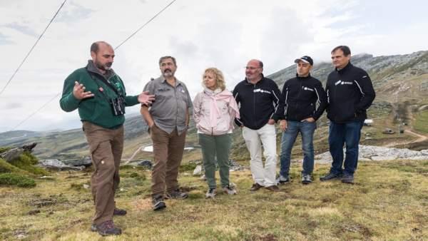 Díaz Tezanos comprueba los resultados de regeneración de Alto Campoo