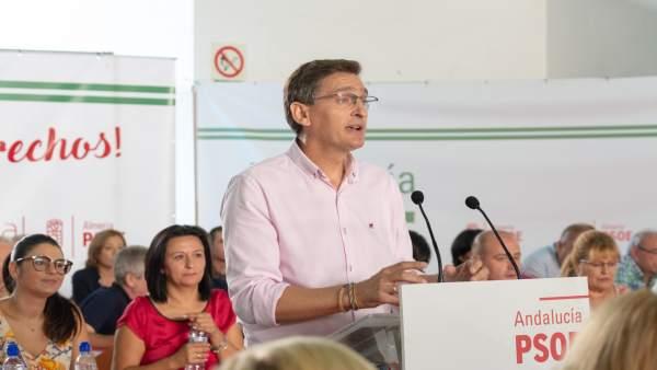 José Luis Sánchez Teruel interviene en el Comité Provincial del PSOE de Almería
