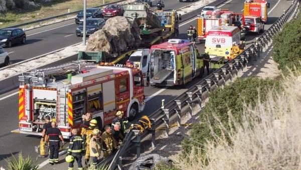 Accidente en la A-7 en Alicante