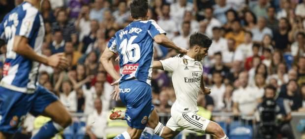 El Real Madrid ganasufriendo al Espanyol gracias a un gol de Asensio VAR mediante