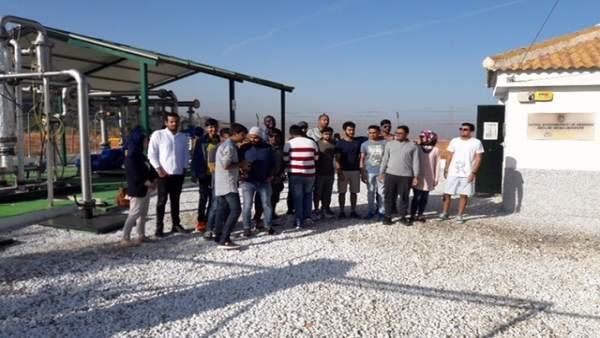 Alumnos alemanes visitan la planta de Biogás de Granada