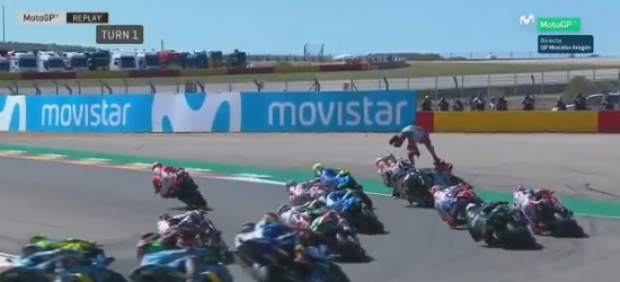 Espeluznante caída de Jorge Lorenzo en el GP de Aragón
