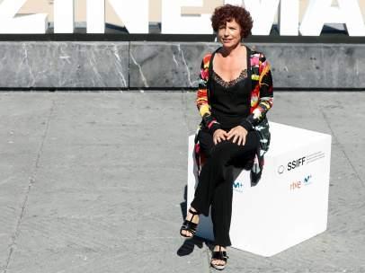 La realizadora, Iciar Bollaín, en el Festival de Cine de San Sebastíán