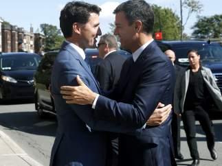 Justin Trudeau y Pedro Sánchez