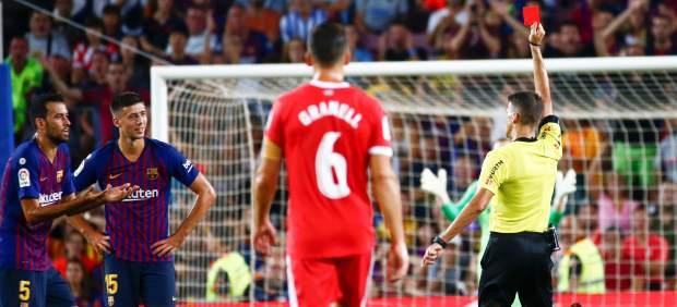 El Barça no se repone a la expulsión de Lenglet y el Girona le arranca un empate