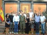 Visita italiana al cuartel general de la Fuerza Terrestre