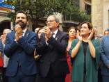 Roger Torrent, Quim Torra y Ada Colau.