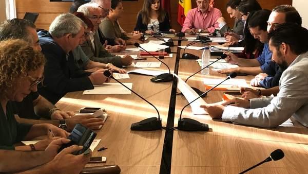 Comisión De Infraestructuras Ayuntamiento Murcia Con Rebeca Pérez Al Frente
