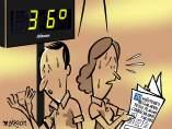 'Un otoño muy caluroso', viñeta de Malagón