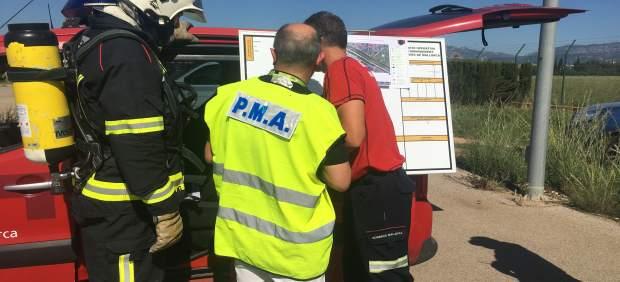 El Aeropuerto de Son Bonet realiza un simulacro general de emergencia