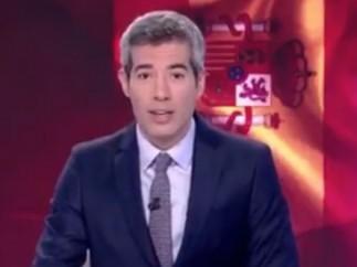 Oriol Nolis, presentador del Telediario de rtve.