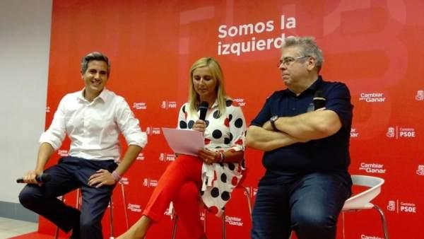 Sánchez Amor con Zuloaga y Cobo