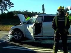 Muere una niña de 3 años al chocar contra una tablet en un accidente de tráfico