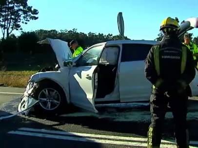 Accidente de tráfico en Pontevedra