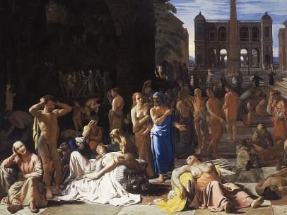 Plaga en una ciudad antigua