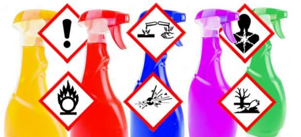 ¿Qué significa cada signo de peligro de los productos químicos de limpieza del hogar?
