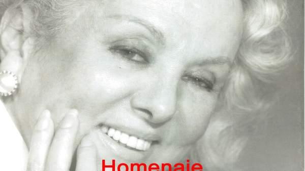 Cartel con el homenaje a María Luisa Ponte.