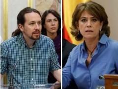 """Iglesias se une al PP en exigir la dimisión de la ministra Delgado por """"mantener amistad"""" con el excomisario Villarejo"""