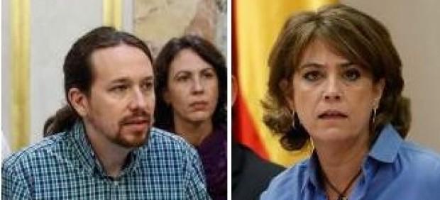 Iglesias se une al PP en exigir la dimisión de la ministra Delgado por